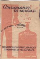#BV6575  GAS,CALOR GAS,MATCHBOX LABEL,ROMANIA. - Zündholzschachteletiketten