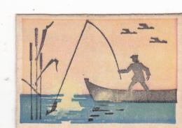 #BV6576  WATER,FISHING,FISHER,BIRDS,MATCHBOX LABEL,ROMANIA. - Matchbox Labels