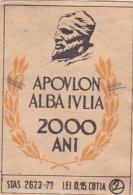#BV6576  APOVLON,ALBA IULIA,ANNIVERSARY,MATCHBOX LABEL,ROMANIA. - Matchbox Labels