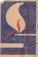 #BV6576  MATCH,FIRE,SMOKING,CIGARETTE,MATCHBOX LABEL,ROMANIA. - Scatole Di Fiammiferi - Etichette