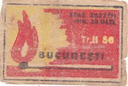#BV6576 BUCUREST,38 MATCHES,FIRE,,MATCHBOX LABEL,ROMANIA. - Boites D'allumettes - Etiquettes
