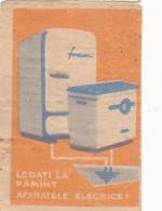 #BV6576 FRIDGE,FREEZER,KITCHEN APPLIANCES,ELECTRICITY,MATCHBOX LABEL,ROMANIA. - Matchbox Labels
