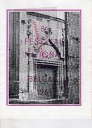 87 - BELLAC - PROGRAMME 8E FESTIVAL 1961- PAUL KUENTZ-ANDROMAQUE-KNOCK-BARBIER SEVILLE-ANDRE CLUZEAU-LIMOGES ETCHEVERRY- - Programs