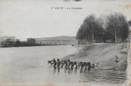 47)   AGEN  -  La  Garonne  (  Lavandière  ) - Agen