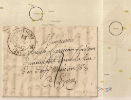 Ecrite De MOLAIN, POLIGNY Jura Sur LAC De 1837. - Storia Postale
