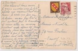 7-7-1947, DERNIER JOUR De Tarif à 3F50. DINAN Ille Et Vilaine Sur CP Humoristique. - Postmark Collection (Covers)