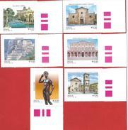 Italia 2016; Patrimonio Artistico E Culturale: Imperia,Bard,Fano,Casarano,Cesena,Viterbo.Serie Completa Di Bordo Destro. - 2011-...: Mint/hinged