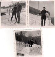 3 Photos Originales Sports D'Hiver - Apprenti Skieur En Famille - Sports