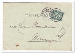 Kaart Van Leeuwarden Naar Wormerveer 12 Dec 01 - Brieven En Documenten