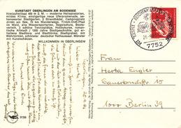L2195 - BRD (1983) 7752 Reichenau, Baden 1: Island In Lake Constance (abbey); Postcard: Überlingen) Tariff. 60 Pf.