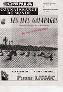 87 - LIMOGES-CONNAISSANCE DU MONDE- ZUBER  ILES GALAPAGOS- CINEMA OMNIA- HERMANN GEIGER- PIANISTE NIEDZIELSKI POLOGNE- - Programs