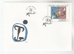 1993 CZECH REPUBLIC FDC  Art JOAN MIRO  Stamps Cover - FDC