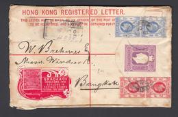 CARTA POSTAL 1908  HONG KONG A BANGKOK , - Hong Kong (...-1997)