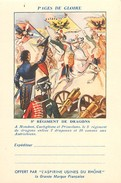 PIE 16-5409 : CARTE FRANCHISE MILITAIRE  PAGES GLOIRE  ASPIRINE RHONE. 5° REGT DRAGONS MONDOVI CASTIGLIONE PRIMOLANO - Marcophilie (Lettres)