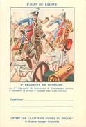 PIE 16-5413 : CARTE FRANCHISE MILITAIRE  PAGES GLOIRE  ASPIRINE RHONE. 1° REGT HUSSARD JEMMAPES BELGIQUE - Tarjetas De Franquicia Militare