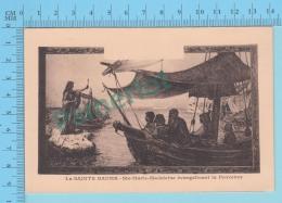 La Sainte Baume France - Tableau De  Ste-Marie-Madeleine Evangelisant La Provence -  Postcard Post Card -2 Scans - Saints