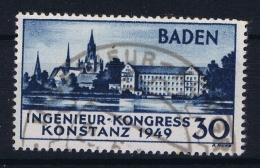 French Occ. Zone Baden Mi  46 Used Obl  1949 - Französische Zone