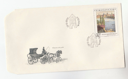 1975 CZECHOSLOVAKIA FDC Art VINCENC MORSTADT Stamps Cover Illus Horse Carriage - FDC