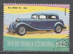 Equatorial Guinea 1977, Scott #7729 M.G. Midget PA, 1934 (U) - Guinée Equatoriale