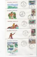 FDC - POLYNESIE - N°47/51  (1967) Fête De Juillet - FDC
