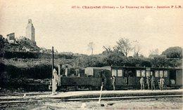 26)   CHAMARET   -  Le   Tramway   En  Gare  -  Jonction P.L.M - France