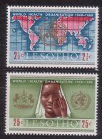 LESOTHO 1968 20TH ANNIV. OF WHO MNH M08698 - Lesotho (1966-...)