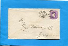 Marcophilie-CHILI--lettre Entier Postal 5 C Colomb-cad LOTA-1896->CONCEPTION - Chile