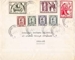 BRIEF 1957 ANTITERINGSZEGELS 998/1004 WATERMAAL ELSENE ANTITUBERCULEUX WATERMAEL IXELLES - Cartas