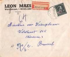 BRIEF 1948 AANGETEKEND BESELARE BRUSSEL  LETTRE RECOMMANDEE  BRUXELLES LEON MAES - Belgique