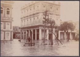 POS-218 CUBA CIRCA 1910 PHOTO HURACAN INUNDACIONES EN LA HABANA 7,5 X11cm. - Andere