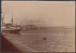 POS-221 CUBA CIRCA 1910 PHOTO HAVANA HARBOR WITH SHIP. BARCOS EN LA BAHIA DE LA HABANA 7,5 X11cm. - Other