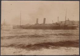 POS-222 CUBA CIRCA 1910 PHOTO HAVANA HARBOR WITH SHIP. BARCOS EN LA BAHIA DE LA HABANA 7,5 X10,7cm. - Photos