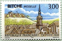 N° Yvert & Tellier 3018 - Timbre De France (1996) - MNH - Bitche (Moselle) - Ongebruikt