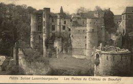PETITE SUISSE LUXEMBOURGEOISE LES CHATEAU DE BEAUFORT     LUXEMBOURG  LUXEMBOURG  LUXEMBURG LUZEMBURGO - Luxemburgo - Ciudad
