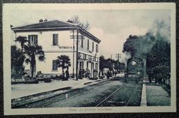 CURA - STAZIONE FERROVIARIA DI VETRALLA (VT), Cartolina Animata Del 1956 - Viterbo