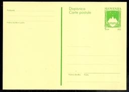 Slovenia 1992 5t Definitive Postal Stationery Card, State Arms  Unused - Slovenia
