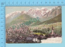 CPA Gruss Aus Tirol, Mieders Und Telfes Gegen Die Kalkkogel ( Stubaital) Litho, 2 Scans - Autriche