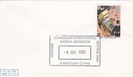 Great Britain 1987 Llangollen International Musical Eisteddfod Souvenir Cover - 1952-.... (Elizabeth II)