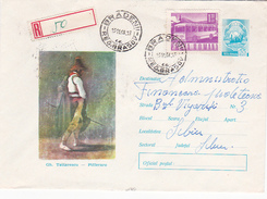 Romania 1968 Registered Cover ,transport, Bus - Covers & Documents