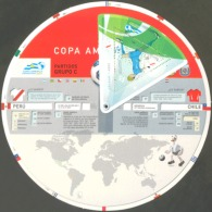SOCCER/ARGENTINA/STAMPS, 2011- AMERICAN CUP, FIXTURE - Non Classés