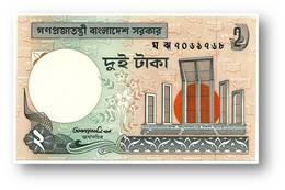 BANGLADESH - 2 Taka - ND ( 1988 - ) - Pick 6 C.d - Unc. - Smaller Watermark - Government Of Bangladesh - 2 Scans - Bangladesh
