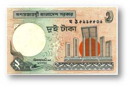 BANGLADESH - 2 Taka - ND ( 1988 - ) - Pick 6 C.c - Unc. - Government Of Bangladesh - 2 Scans - Bangladesh