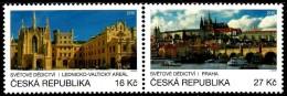 Czech Republic - 2016 - UNESCO World Heritage - Prague Castle And Lednice-Valtice Region - Mint Stamp Set - Ongebruikt