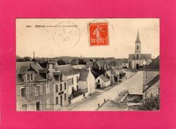 44 LOIRE ATLANTIQUE, DERVAL, Vue Générale, Animée, 1911, (Croix) - Derval