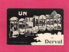 44 LOIRE ATLANTIQUE, Un Bonjour De DERVAL, Multivues, 1906, (LaCroix) - Frossay