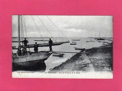 44 LOIRE ATLANTIQUE, FROSSAY, Vue De La Loire à La Roche, Animée, Bateau De Pêche, 1952, (Beurel-Baconnais) - Frossay