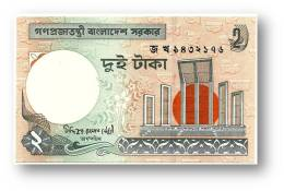 BANGLADESH - 2 Taka - 2007 - Pick 6 C.j - Unc. - Segmented Security Thread - Government Of Bangladesh - 2 Scans - Bangladesh
