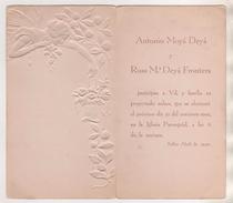 THEME MARIAGE NOCES - CARTE DEPLIANTE GENRE ART DECO DE 1932 - SOLLER ABRIL BALEARES  MAJORQUE ESPAGNE,VOIR LES SCANNERS - Noces