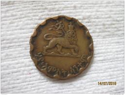 Ethiopie 25 Santeem 1936 EE = 1944 (cannelure Artisanale) - Ethiopie