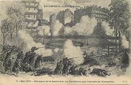 Paris -ref-B470 - La Commune - Mai 1871 - Attaque De La Barricade Du Pantheon Par L Armee De Versailles - - Other